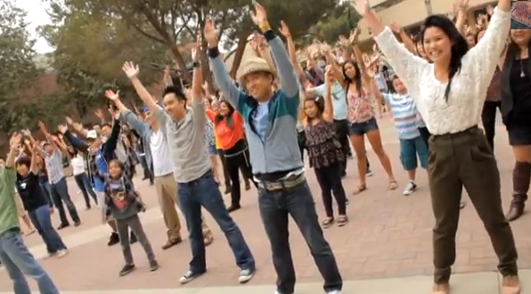 OFFICIAL Trang and Nam Proposal Flash Mob at UCLA 9-24-11