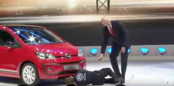 Volkswagen Presentation Interrupted by Protester