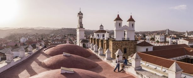 San Felipe Neri monastery in Sucre, Bolivia ボリビア サン フェリペ ド ネリ教会
