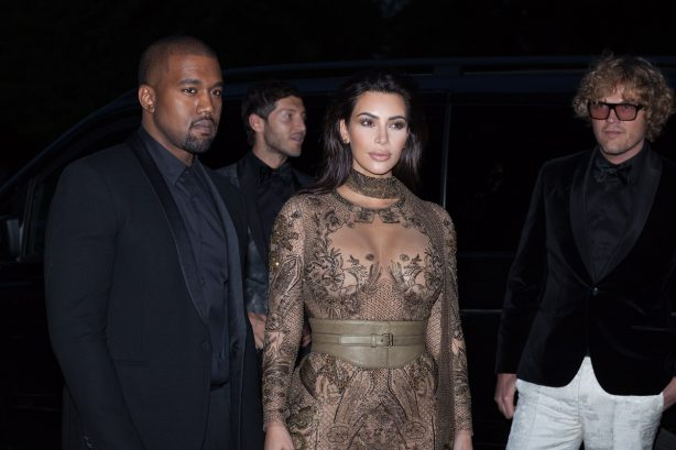 Kim Kardashian West and Kanye West at Vogue Festival Gala